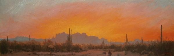 Superstitions Sunset by John Horejs