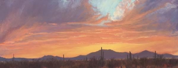 Desert Sunset Colors by John Horejs