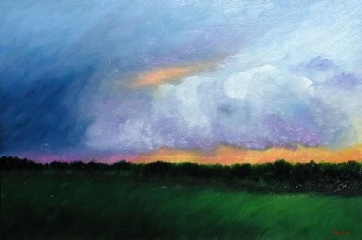 Prairie Storm II by Melinda Fellini