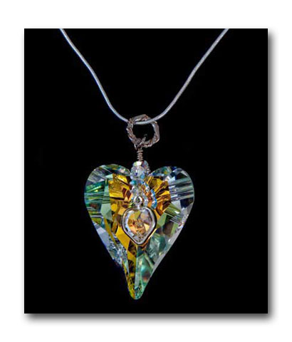 Crystal Heart Pendant by Sandy Schenkat