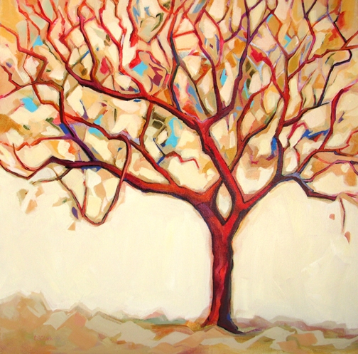 Backyard Apple Tree by Carolee Clark