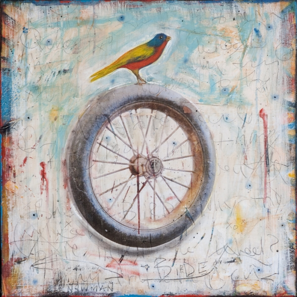Bird on a Wheel by Dave Newman