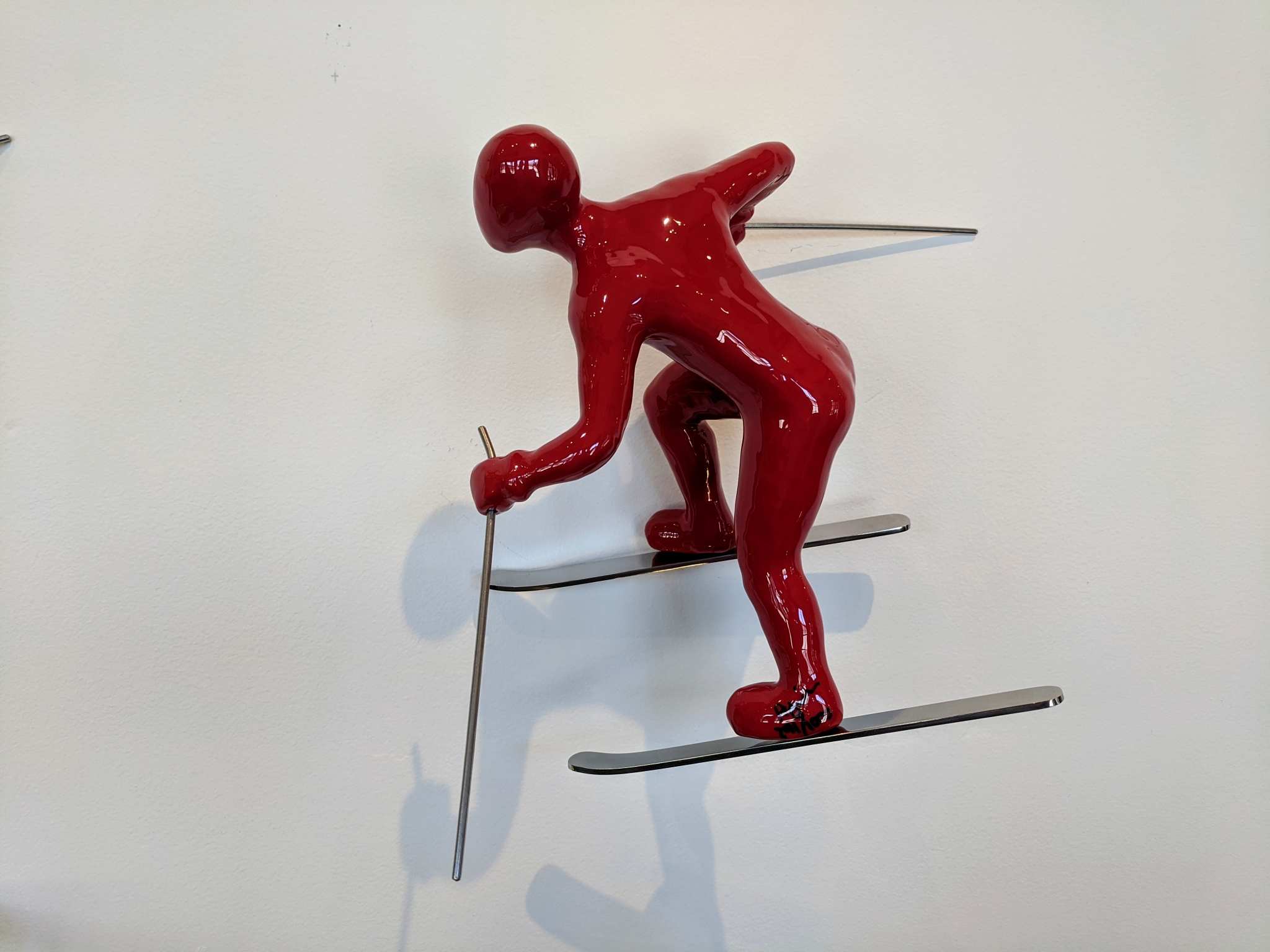 Skier 3, Color C (Red) by Ancizar Marin