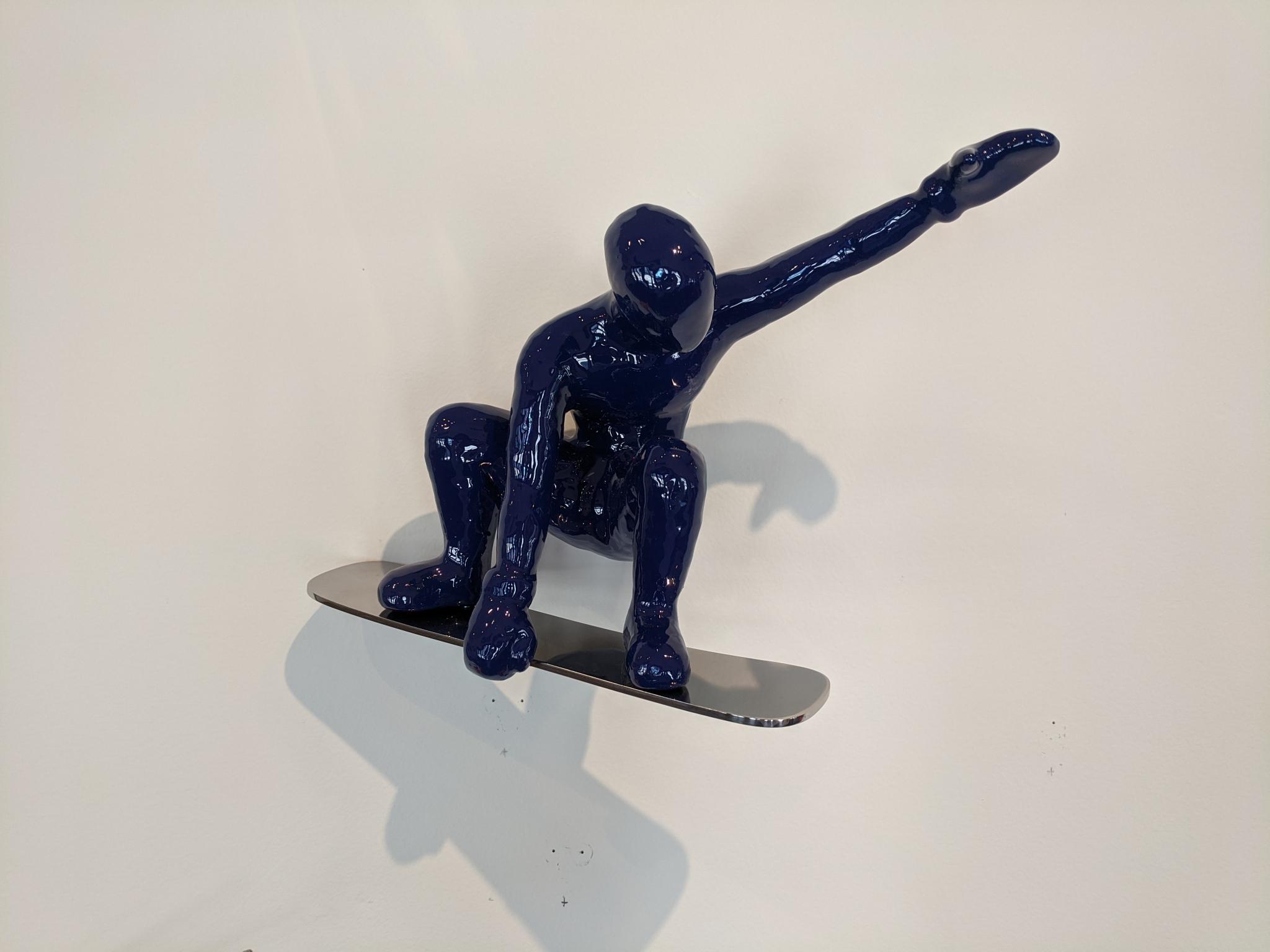 Snow Boarder 1, Color B (Blue) by Ancizar Marin